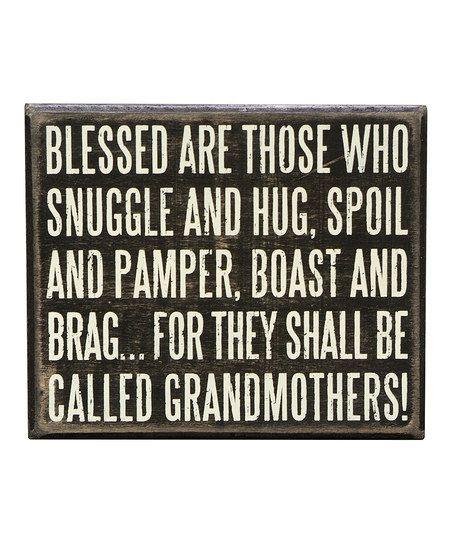 'Grandmothers' Box Sign