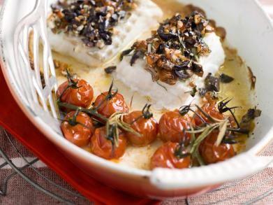 Kabeljauw met tomatencrumble
