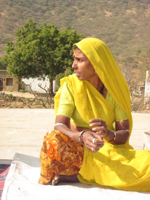Woman in tribal area. Sadhna. Udaipur.
