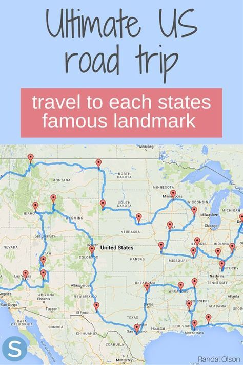 This is the ultimate US road trip for you to see each states famous landmarks! http://www.simplemost.com/here-is-the-ultimate-road-trip-across-the-united-states/?utm_campaign=social-account&utm_source=pinterest.com&utm_medium=organic&utm_content=pin-description
