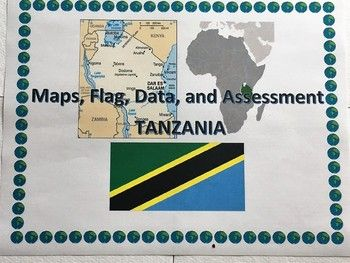 Looking to build up your students' map and data skills? This activity asks your students to analyze the maps, flag, and data of Tanzania. Included is an assessment with 10 questions that can be answered through analyzing the maps, flag, and data included.