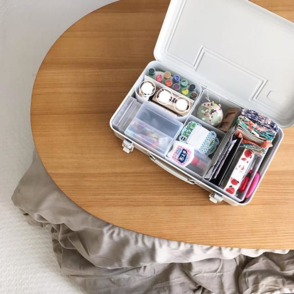 プチプラで綺麗に 無印 Ikea 100均 アイテムを使った裁縫道具収納 Folk 裁縫箱 裁縫道具 裁縫