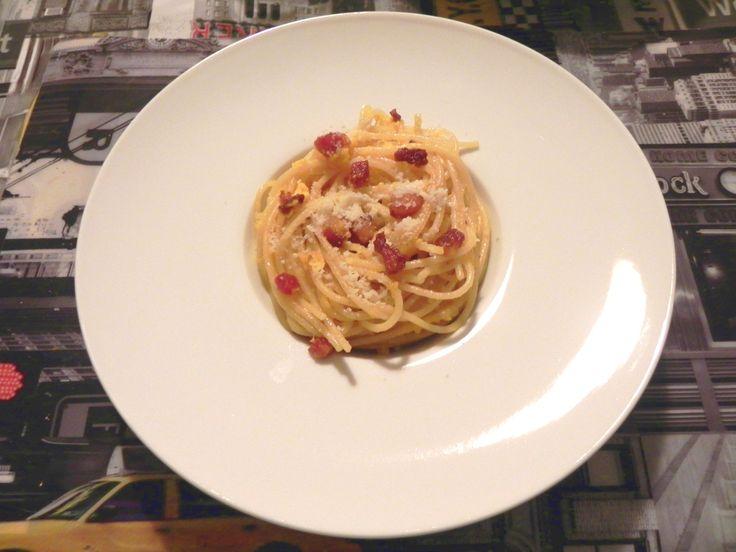 spaghetti alla carbonara la ricetta originale le. Black Bedroom Furniture Sets. Home Design Ideas