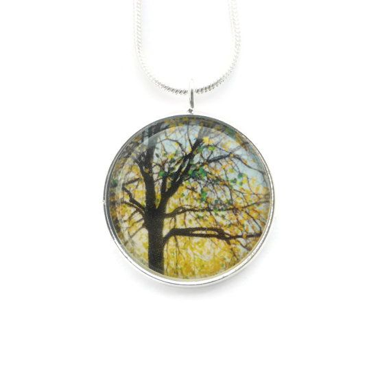 Tree Necklace Tree of Life Pendant Autumn Jewelry by Larryware