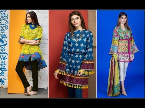 5a996f64c99 Latest Short Kurti with Capri Designs in Pakistan 2018