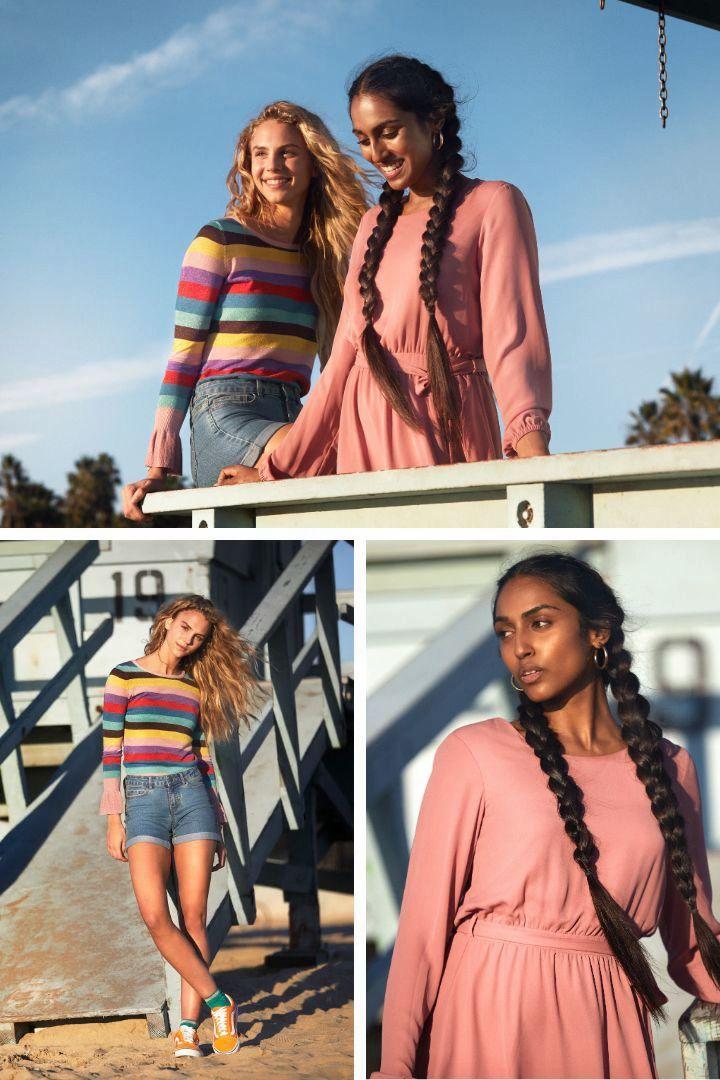 Die Looks der GNTM-Kandidatinnen Sayana und Simone