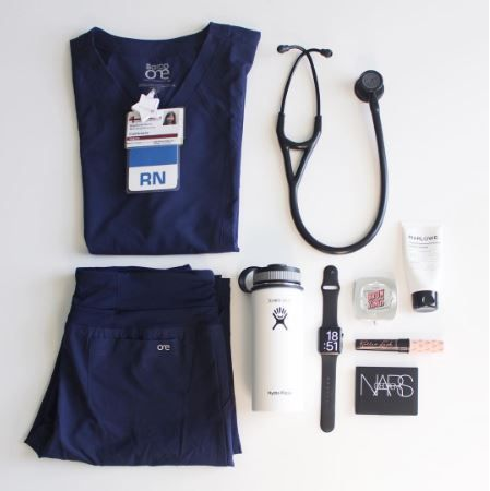 RN Essentials // #rn #nurse #ootd #flatlay