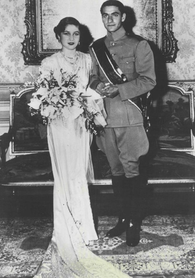 Wedding photos: Mohammad Reza Pahlave of Iran and Princess Fawzia of Egypt.  (1939 - 1945)