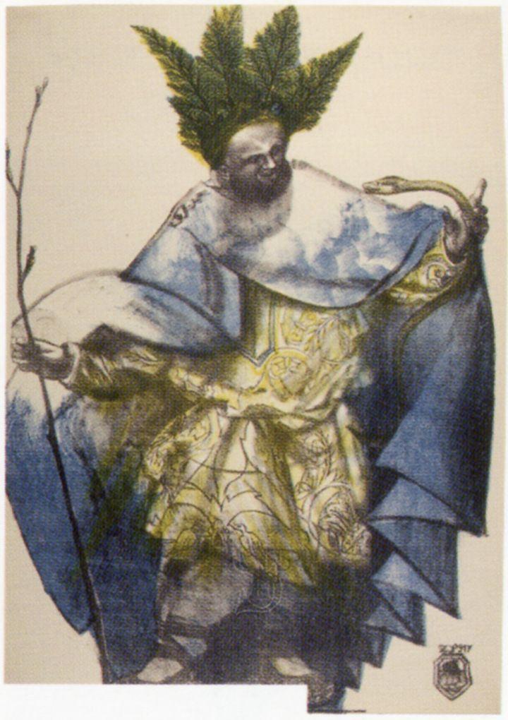 Zofia Stryjeńska -Bogi słowiańskie to cykl 16 obrazów. Pogoda-Podag