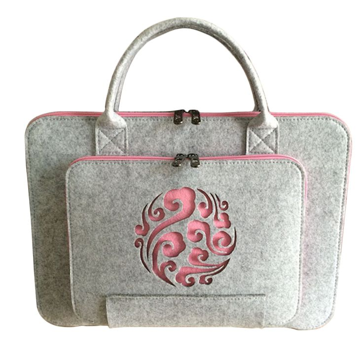 2017 new feltro universal laptop bag borsa per notebook valigetta handlebag sacchetto per macbook air pro retina 11/12/13/15 pollice uomo donna