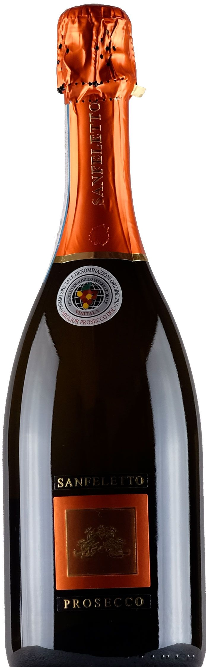 Price 10.98💸 for Sanfeletto Prosecco Treviso Brut.:  Obtained from Prosecco DOC hills. Featuring a fine and sharp bouquet, a strong and dry flavor with a pleasant crust of bread crust. A versatile product that lends itself as an aperitif or whole meal with fish starters and risotto.  #Xtrawine #com #Food #and #beverages