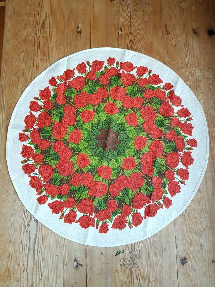 Lovely red roses printed round tablecloth. Excited to share the latest addition to my #etsy shop: 1970 printed round tablecloth with red roses in linen from Sweden #linen #red #sweden #printed #vintage #swedishdesign #roses #roses #red roses #circle #printed linen http://etsy.me/2Ci3HNx