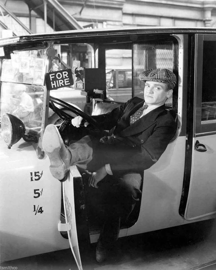 """James Cagney in """"Taxi""""."""