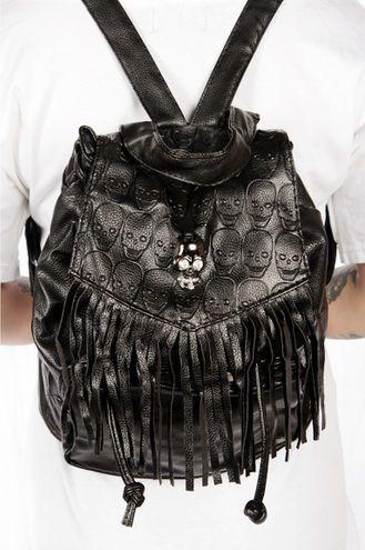 Here you got some relly cool skull backbag!