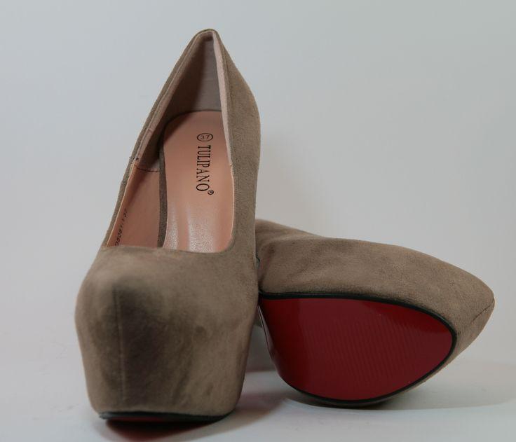 Dècolletè camosciato colore khaki, tacco 14 cm e plateau di 5 cm    http://aemstore.it/scarpe-con-tacco/32-decollete-camosciato-khaki.html