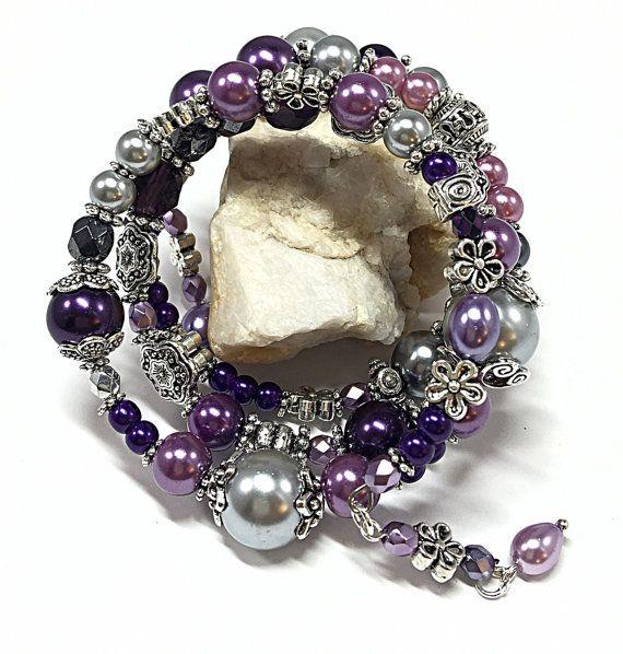 Purple Wrap Bracelet Best Presents for Mom by TheaDesignConcepts