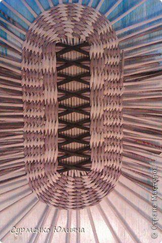 Поделка изделие Декупаж Плетение Год спустя Бумага газетная Клей Краска Трубочки бумажные фото 18