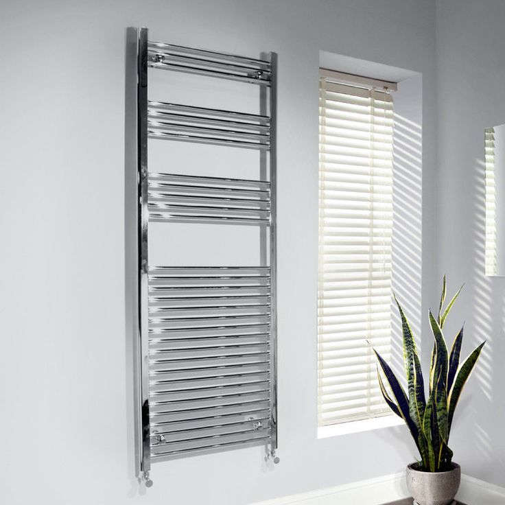 600 x 1700 Beta Heat straight chrome heated towel rail. This towel rail has a high quality chrome finish and produces 1699 BTUs. It is tested and manufactured to BS EN 442 standards and is finished using the 5 layered european standard plating process.