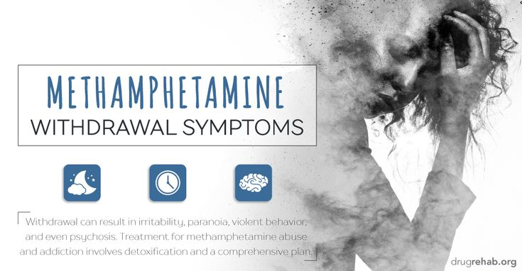 #Methamphetamine withdrawal #symptoms can be #intense, leading to paranoia or even psychosis. Withdrawal often keeps #addicted individuals from #quitting use of meth. #Learn more about meth withdrawal and #treatment options.