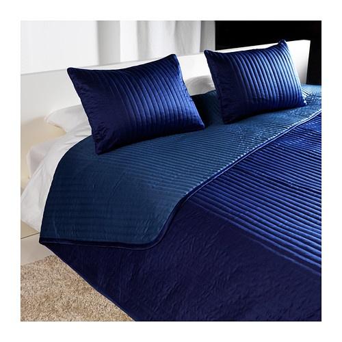 Ikea saphire blue bedspread w/ matching shams