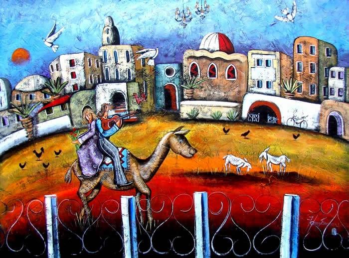 Painting by Harry Erasmus - Jerusalem