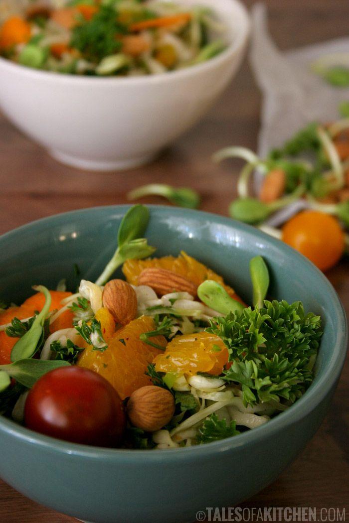 Niecodzienne połączenie, czyli sałata z pomarańczami