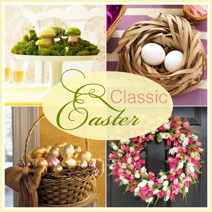 Simple and sophisticated Easter decor. #Easter