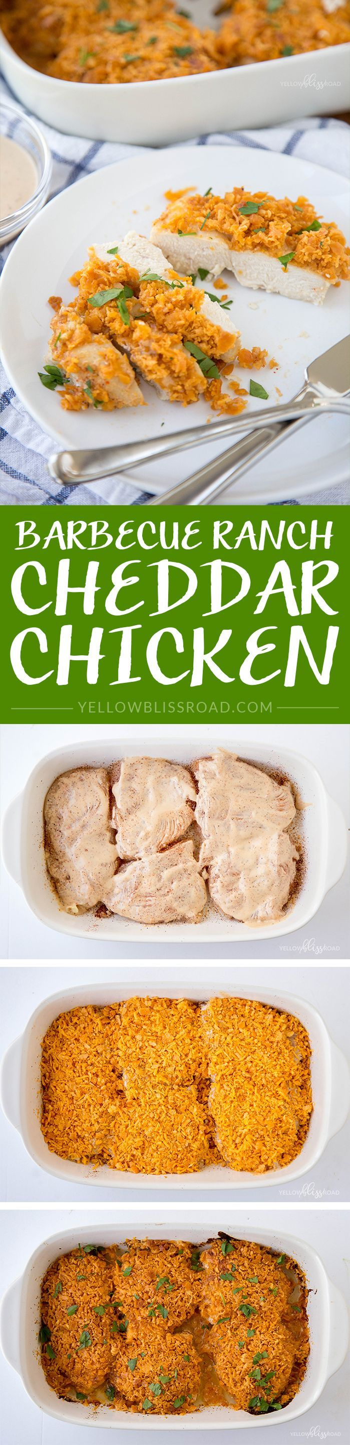 Barbecue Ranch Cheddar Baked Chicken #ad