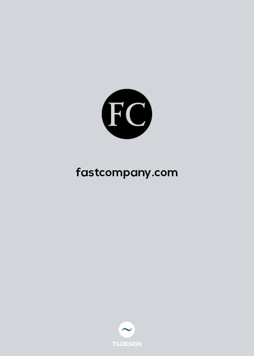 http://www.fastcompany.com/ Blog design articles