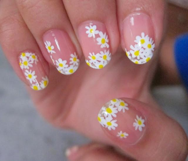 daisy nails | Nails | Pinterest