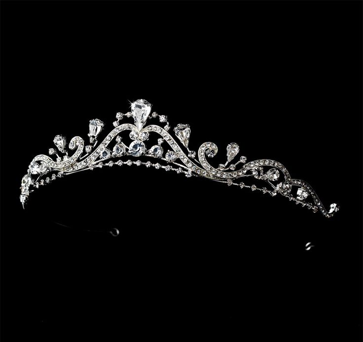 Lovely Rhinestone Swirl Design Princess Bridal Tiara