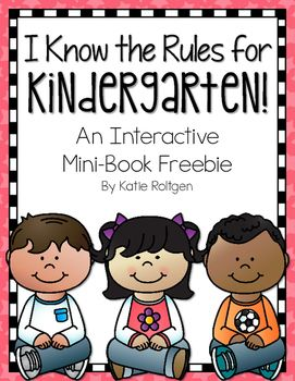 This interactive mini-book is part of my Welcome to Kindergarten Pack that is available in my store.  After talking about expectations for kindergarten, you can use this book to have your students draw pictures of themselves following general expectations for school.