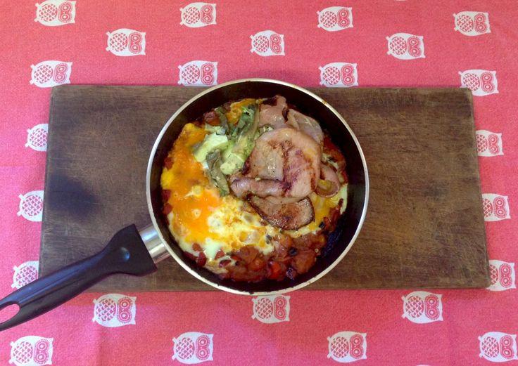 Shakshuka with bacon. First recipe on the blog! #fryup #fixingwithfood #fodmaps #iqs #glutenfree #paleo #lactosefree