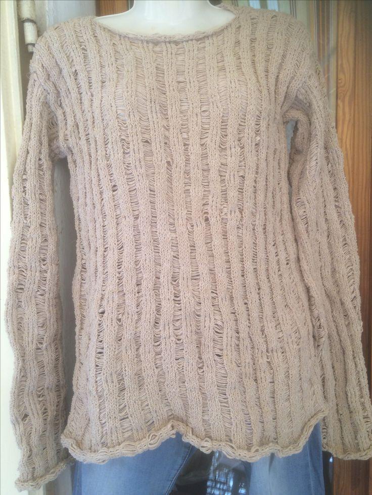 maglione in binario di cotone