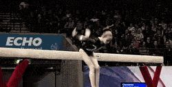 (gif) HOW?! How is this possible?! British originality will never cease to amaze me<3. // Follow the link to see gifs of some of the fabulous beam mounts from the British Championships.