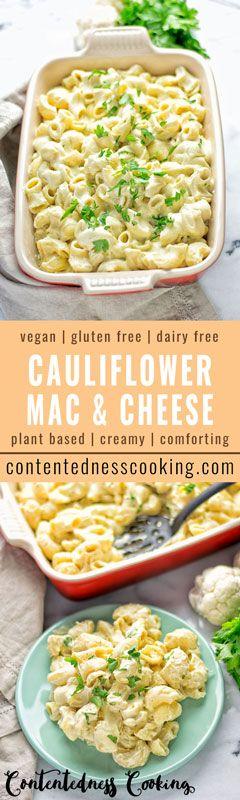 Cauliflower Mac & Cheese   #vegan #glutenfree #contentednesscooking