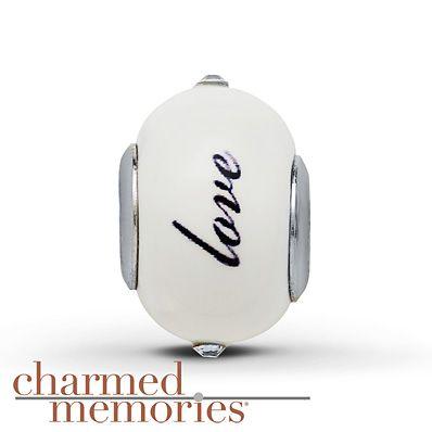 Charmed Memories Love Charm Sterling Silver $49.99