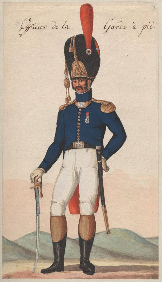 France - Officer of Guard Grenadiers a Pied (Old Guard)