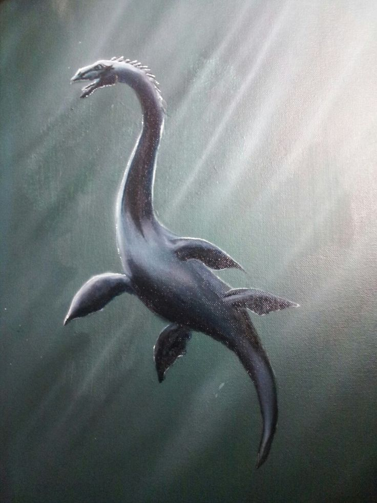 """Nessie"" 45*35, acrylic, airbrush on canvas"