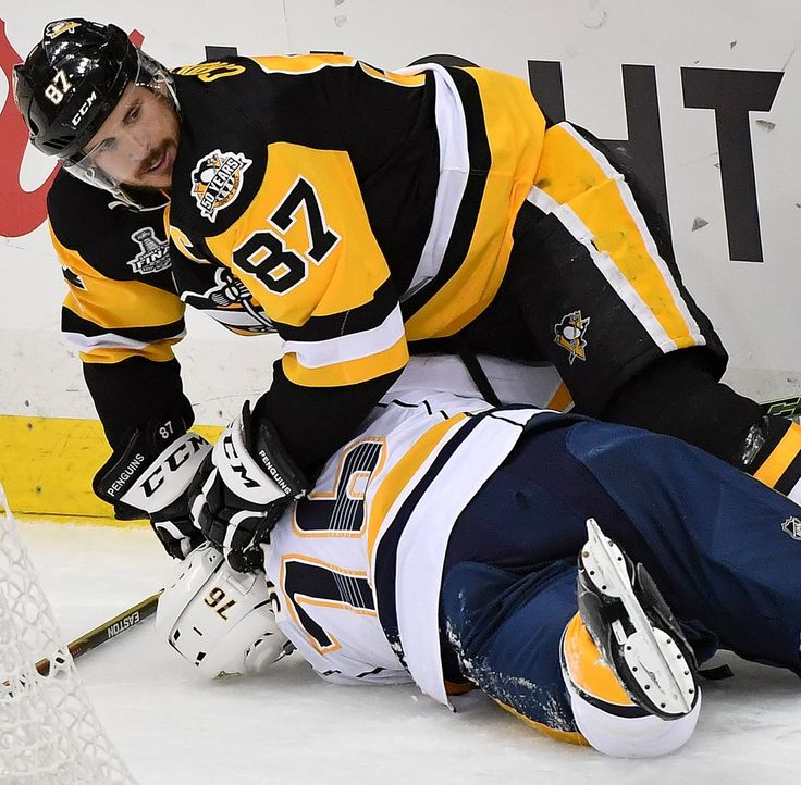 Crosby vs. PK June 2017 cup finals. Lol. Crosby pushing PK's face into the ice so he won't have to smell his breath or listen to his motor mouth.