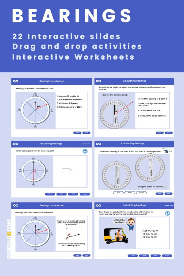 3 Figure Bearings Math Lessons Gcse Math Interactive Lessons