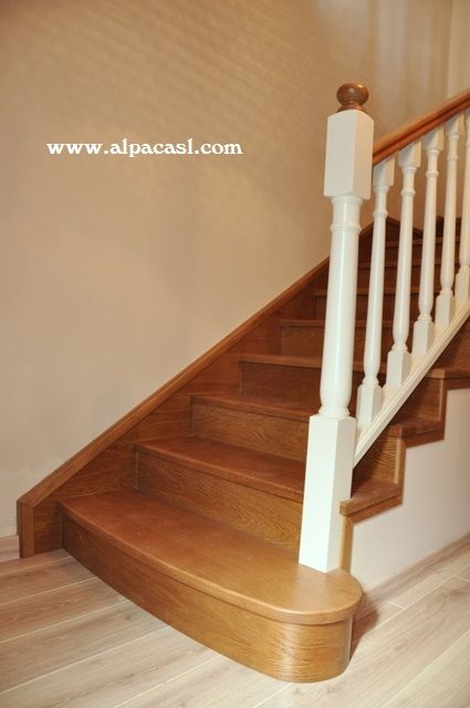 17 best images about escaleras revestidas on pinterest - Forrar escaleras de madera ...
