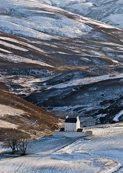 Corgarff Castle in Aberdeenshire, Scotland, built in the mid 16th century by the Forbes of Towie.