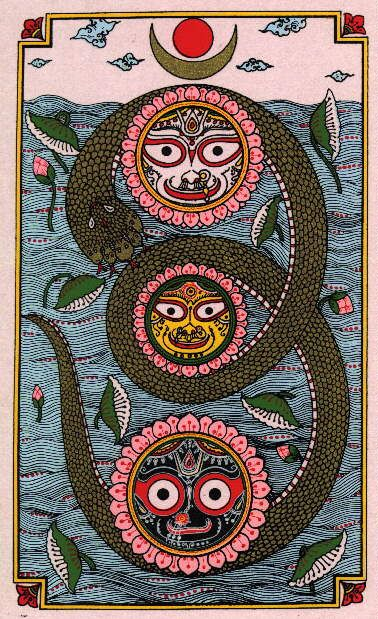 Kundalini is like a three and a half coiled serpent