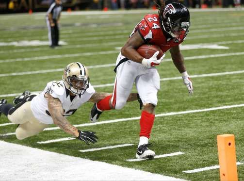 Fantasy Football Week 6: Award Roundup for Busts and MVPs - The Atlanta Falcons' Devonta Freeman is just the second running back since the merger to have tallie... - Gerald Herbert/Associated Press