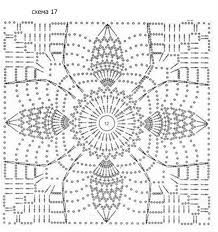 ажурные квадраты крючком схемы - Szukaj w Google