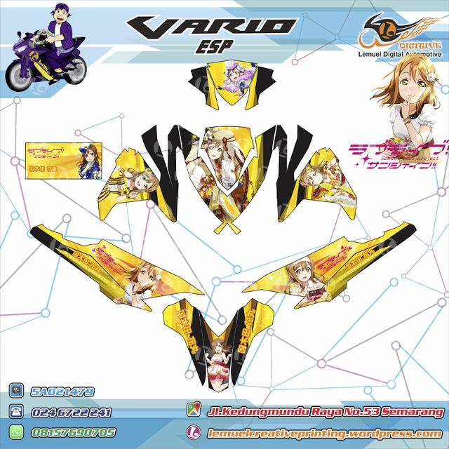 Custom Decal Vinyl Motor Full Body Honda Vario Thema Kunikida Hanamaru Berkualitas by DIGITIVE