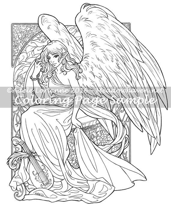 Art Of Meadowhaven Bonus Fantasy Coloring Page Download Heart
