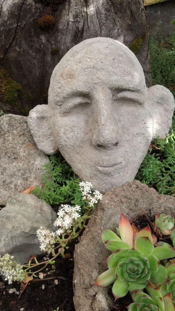 Awesome Cement Garden Faces   Il_570xN.480505507_15e5