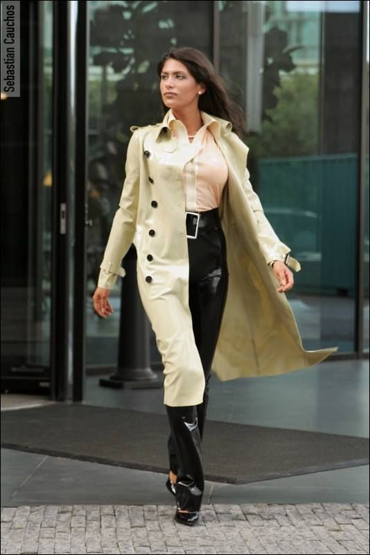Latex designer trench coat. | Things to Wear